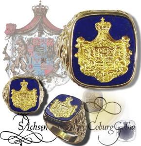 Siegelring Sachsen Coburg Gotha
